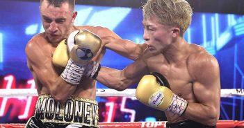 Jason Moloney vs. Naoya Inoue (Fotos: Mikey Williams/Top Rank)