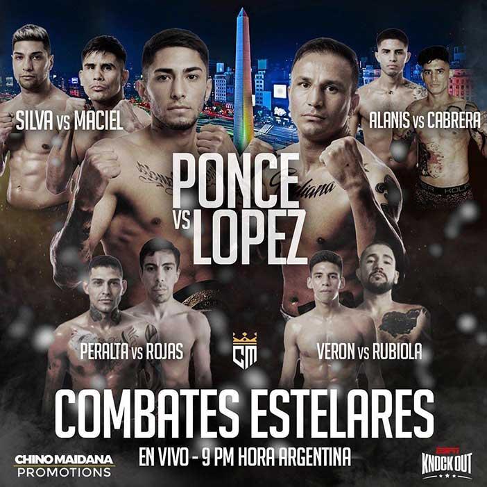 """Jeremías Ponce vs. Rubén """"El Pata"""" López,"""