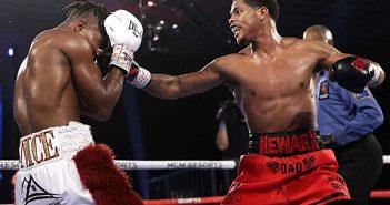 Shakur Stevenson vs Toka Kahn Clary (Credito de Fotos: Mikey Williams / Top Rank via Getty Images)