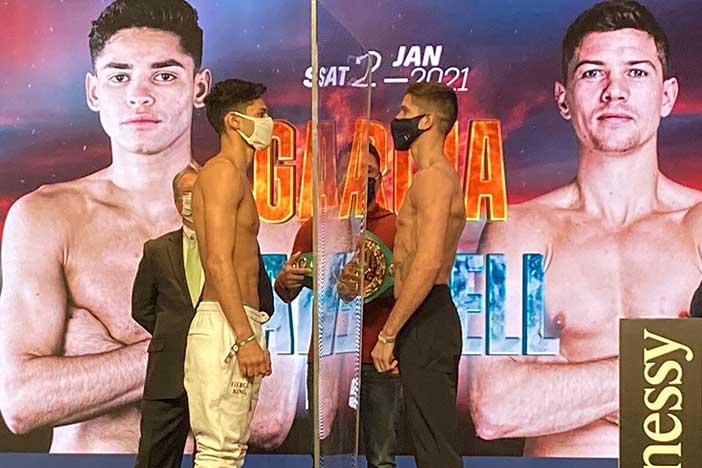 Pesaje Ryan García vs Luke Campbell