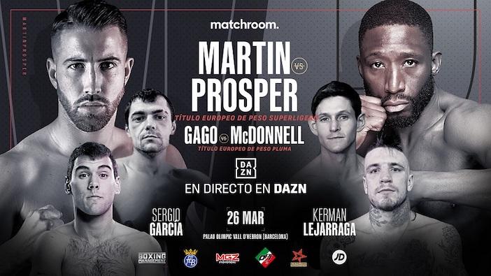 Sandor Martín vs. Kay Prosper y Andoni Gago vs. Gavin McDonnell