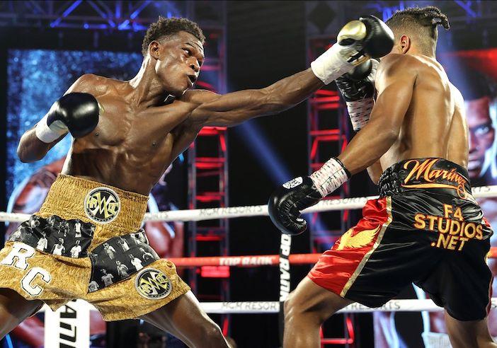 Richard Commey vs. Jackson Mariñez (Credito de Fotos: Mikey Williams / Top Rank vía Getty Images)