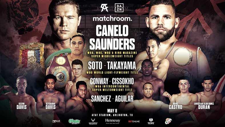 Canelo vs Saunders (Cartelera)