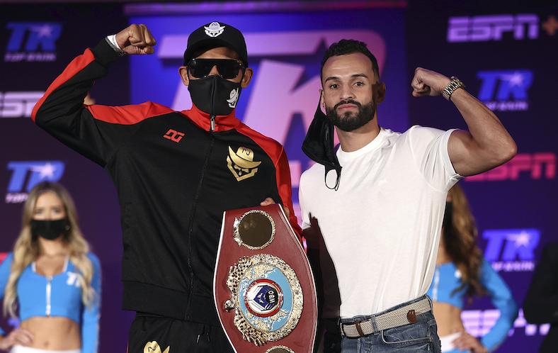 "Emanuel Navarrete vs. ""Pitufo"" Díaz (Foto: Mikey Williams / Top Rank vía Getty Images)"