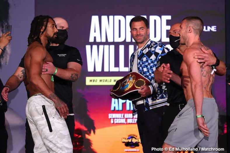 Andrade vs Willliams (Foto: Matchroom)