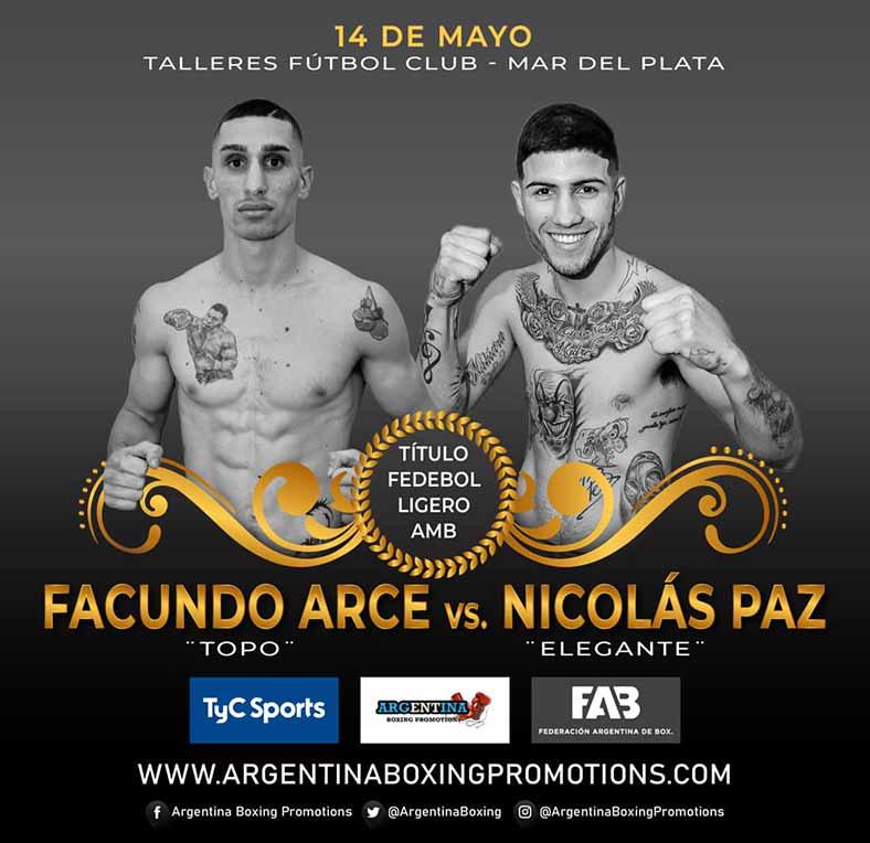 Facundo Arce ante Nicolás Paz por título fedebol