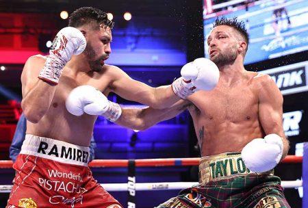 José Ramírez vs Josh Taylor (Mikey Williams / Top Rank vía Getty Images)