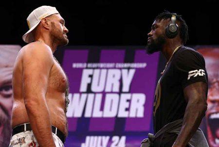 Tyson Fury vs. Deontay Wilder III ( Mikey Williams/Top Rank vía Getty Images)