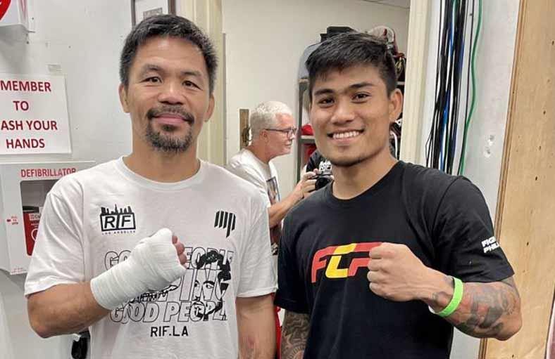 Manny Pacquiao vs. Mark Magsayo (Foto: Twitter)