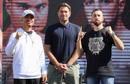 Mikey García, Eddie Hearn y Sandor Martín