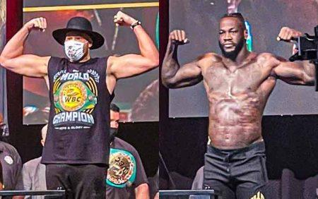 Tyson Fury vs. Deontay Wilder pesaje 3 (PHOTOS CREDIT: SUMIO YAMADA)